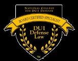 Board Certified DUI Lawyer Badge.